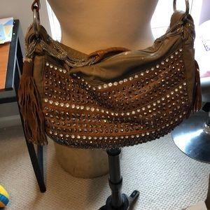 Handbags - Studded hobo bag,